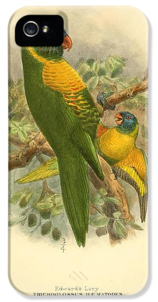 Edward iPhone 5 Cases - Edwards Lory iPhone 5 Case by J G Keulemans
