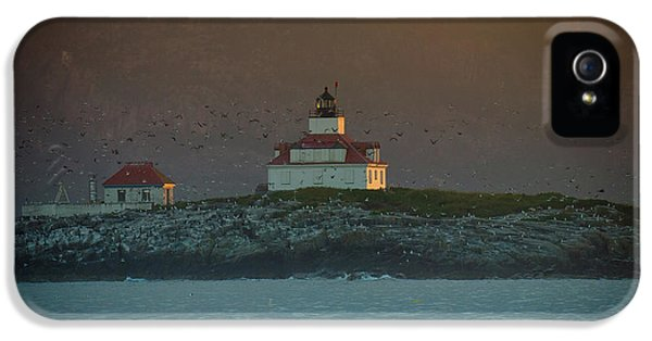 Lighthouse iPhone 5 Cases - Egg Rock Island Lighthouse iPhone 5 Case by Sebastian Musial
