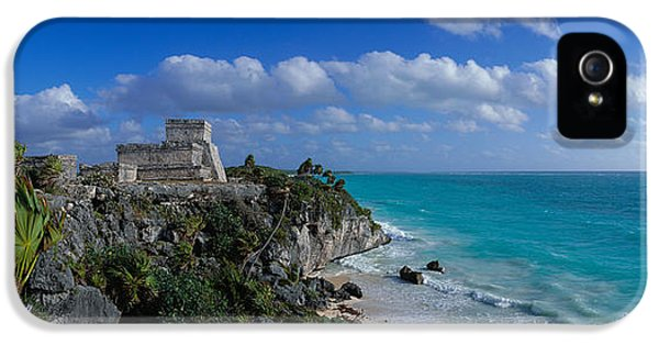 Archeology iPhone 5 Cases - El Castillo Tulum Mexico iPhone 5 Case by Panoramic Images