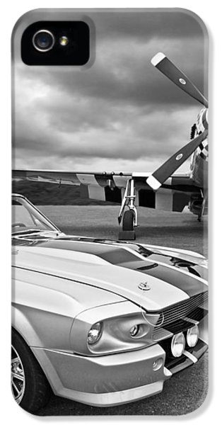 Eleanor Mustang With P51 Black And White IPhone 5 / 5s Case by Gill Billington