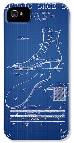 High Heel iPhone 5 Cases - Electric Shoe Sole Patent from 1893 - Blueprint iPhone 5 Case by Aged Pixel
