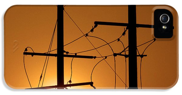 Energy iPhone 5 Cases - Electrical Power Lines iPhone 5 Case by Don Spenner