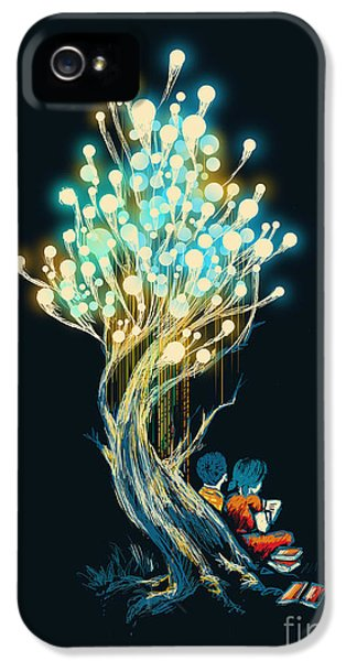 Light Bulb iPhone 5 Cases - ElectriciTree iPhone 5 Case by Budi Kwan