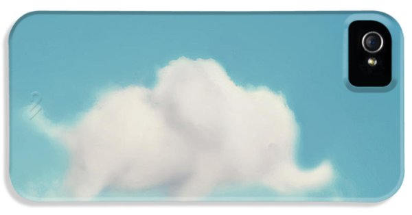 Elephant iPhone 5 Cases - Elephant in the Sky iPhone 5 Case by Amy Tyler