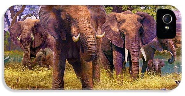 Elephants IPhone 5 / 5s Case by Jan Patrik Krasny