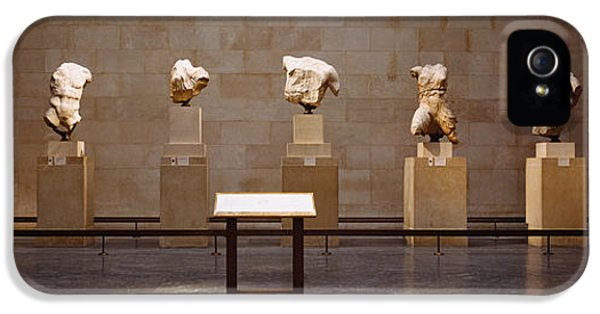 Stool iPhone 5 Cases - Elgin Marbles Display In A Museum iPhone 5 Case by Panoramic Images