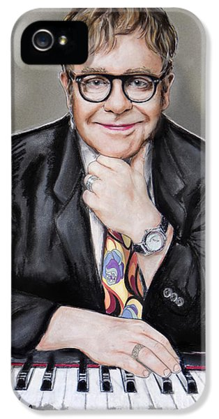Elton John IPhone 5 / 5s Case by Melanie D