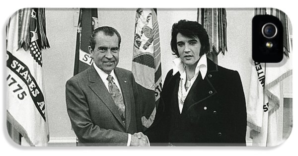 The White House Photographs iPhone 5 Cases - Elvis and Nixon iPhone 5 Case by Unknown