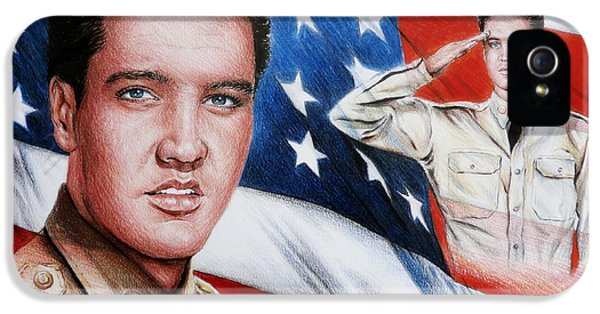 Gi iPhone 5 Cases - Elvis Patriot  iPhone 5 Case by Andrew Read