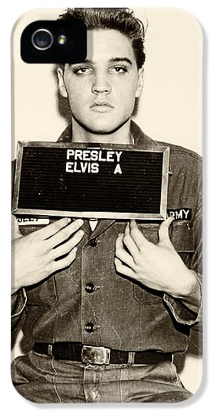 Elvis Presley - Mugshot IPhone 5 / 5s Case by Bill Cannon