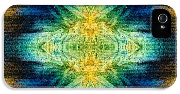 Third Eye iPhone 5 Cases - Emerald Kiss Abstract Art by Sharon Cummings iPhone 5 Case by Sharon Cummings