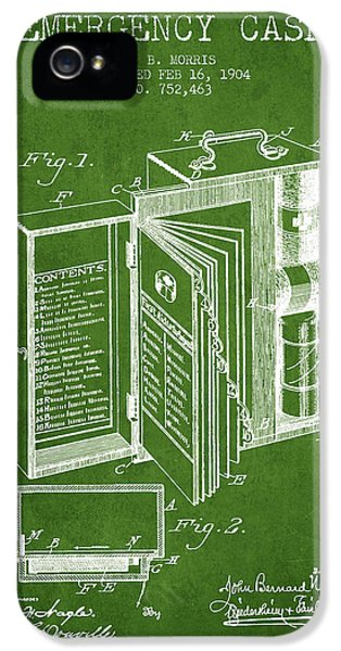 Illness iPhone 5 Cases - Emergency Case Patent from 1904 - Green iPhone 5 Case by Aged Pixel