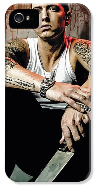 Hip Hop iPhone 5 Cases - Eminem Artwork 1 iPhone 5 Case by Sheraz A