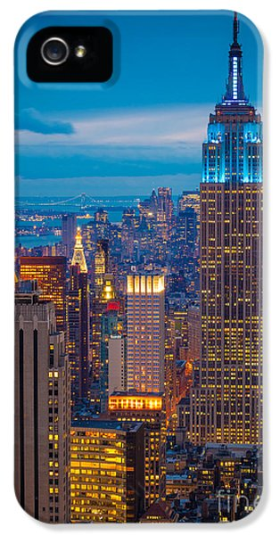 Empire State Blue Night IPhone 5 / 5s Case by Inge Johnsson