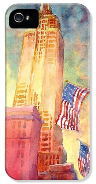 Buildings iPhone 5 Cases - Empire State iPhone 5 Case by Virgil Carter