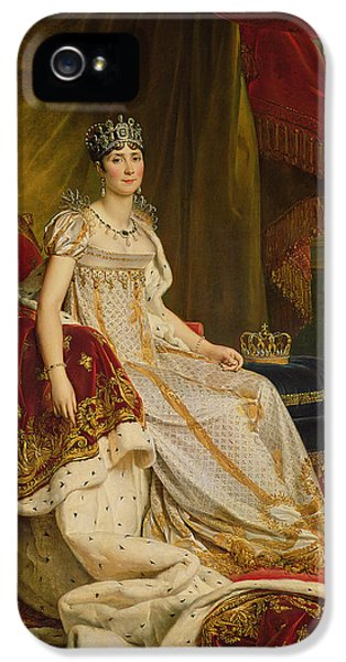 Wife iPhone 5 Cases - Empress Josephine 1763-1814 1808 Oil On Canvas iPhone 5 Case by Francois Pascal Simon, Baron Gerard