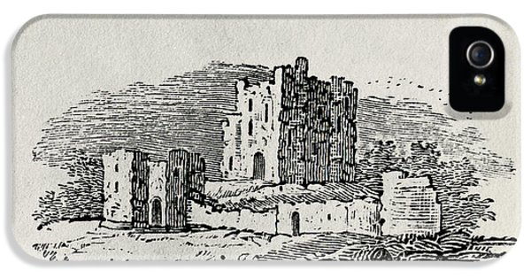Ruins iPhone 5 Cases - Endpiece Wood Engraving iPhone 5 Case by Thomas Bewick