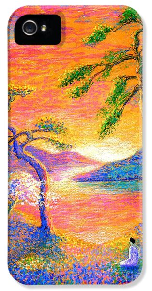 Flowering iPhone 5 Cases - Divine Light iPhone 5 Case by Jane Small