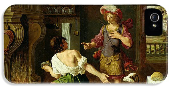 Brother iPhone 5 Cases - Esau Selling His Birthright To Jacob, 1630 Oil On Canvas iPhone 5 Case by Michel Corneille