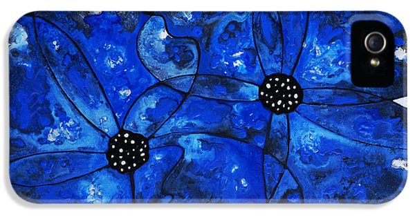 Evening Bloom Blue Flowers By Sharon Cummings IPhone 5 / 5s Case by Sharon Cummings