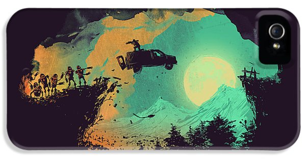 Apocalypse iPhone 5 Cases - Evil robot Leap of faith iPhone 5 Case by Budi Kwan