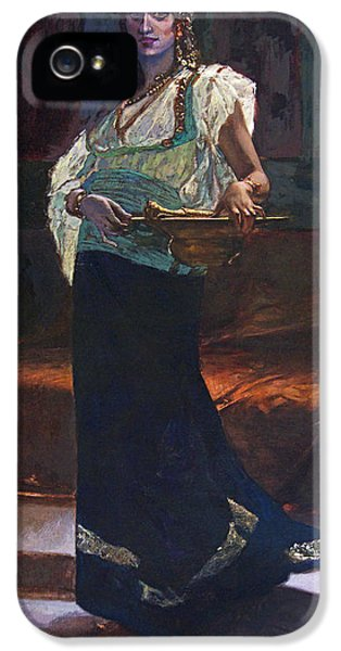 Restoration iPhone 5 Cases - Exotic Woman iPhone 5 Case by Edouard Richter