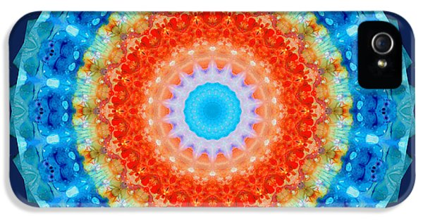 Third Eye iPhone 5 Cases - Expanding Energy 1 - Mandala Art By Sharon Cummings iPhone 5 Case by Sharon Cummings