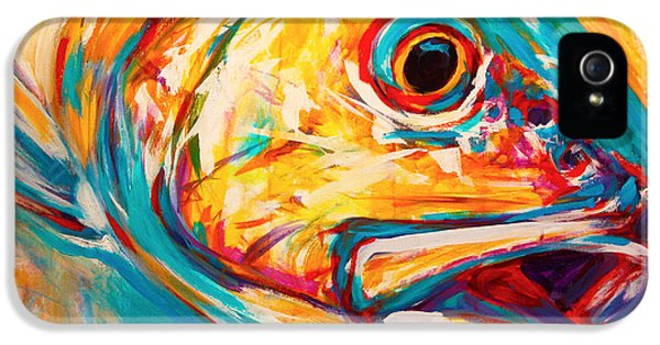 Fly iPhone 5 Cases - Expressionist Redfish iPhone 5 Case by Mike Savlen