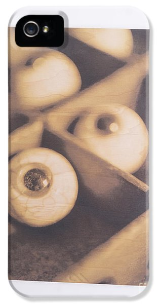 Eyeball iPhone 5 Cases - Original - Eyeballs On Wood iPhone 5 Case by Edward Fielding