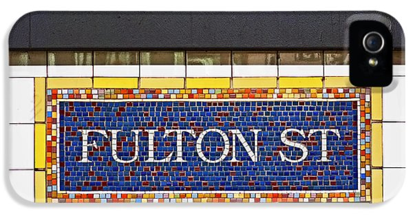 F Is For Fulton Street IPhone 5 / 5s Case by Rona Black