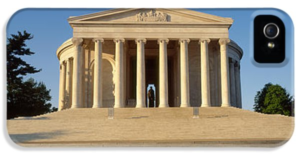 Facade Of A Memorial, Jefferson IPhone 5 / 5s Case by Panoramic Images