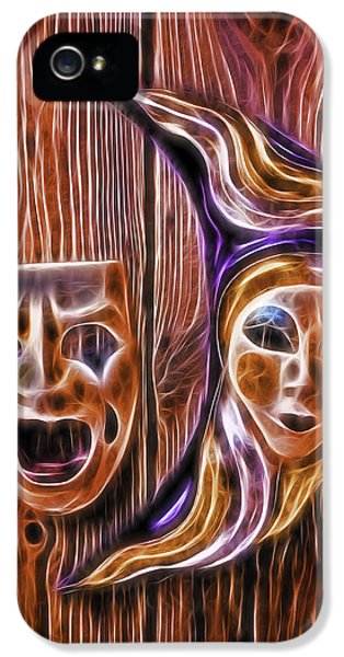 Mask iPhone 5 Cases - Faces On The Wall iPhone 5 Case by Garry Gay