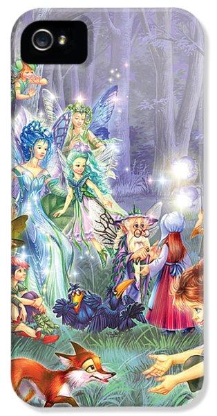 Fairies iPhone 5 Cases - Fairy Princess Gathering iPhone 5 Case by Zorina Baldescu