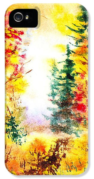 Forrest iPhone 5 Cases - Fall Forest iPhone 5 Case by Irina Sztukowski