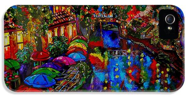Umbrella iPhone 5 Cases - Fall on the Riverwalk iPhone 5 Case by Patti Schermerhorn