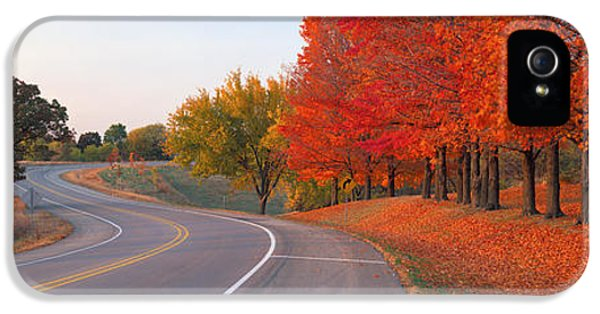 Il iPhone 5 Cases - Fall Road Il iPhone 5 Case by Panoramic Images