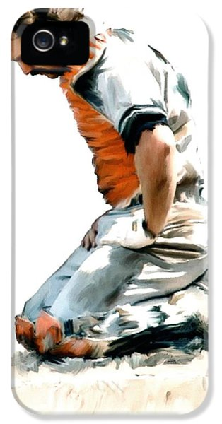 Main Street iPhone 5 Cases - Fallen Captain VI  Thurman Munson iPhone 5 Case by Iconic Images Art Gallery David Pucciarelli