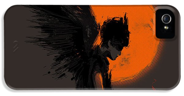 Angel iPhone 5 Cases - Fallen one iPhone 5 Case by Budi Kwan