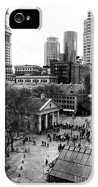 Wrapped iPhone 5 Cases - Faneuil Hall Marketplace iPhone 5 Case by John Rizzuto