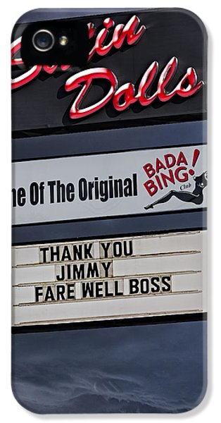 Tony Soprano iPhone 5 Cases - Farewell Boss iPhone 5 Case by Susan Candelario