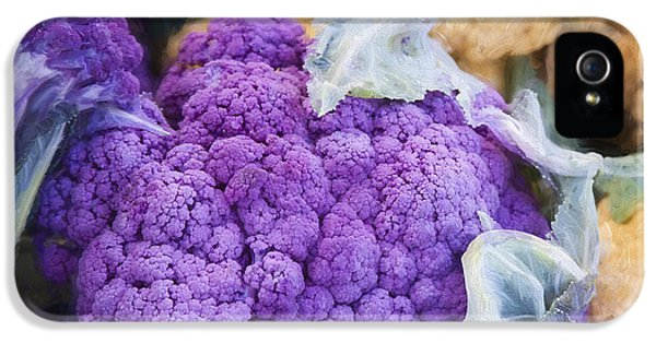 Farmers Market Purple Cauliflower Square IPhone 5 / 5s Case by Carol Leigh