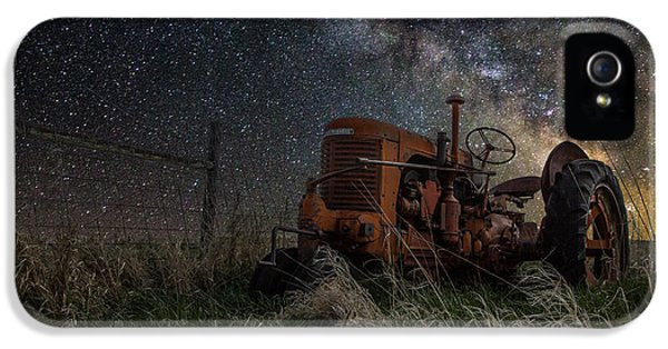 Tractor iPhone 5 Cases - Farming the Rift iPhone 5 Case by Aaron J Groen