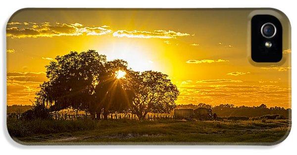 Farmland iPhone 5 Cases - Farmland Sunset iPhone 5 Case by Marvin Spates