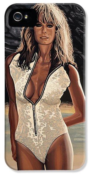 Suit iPhone 5 Cases - Farrah Fawcett iPhone 5 Case by Paul Meijering