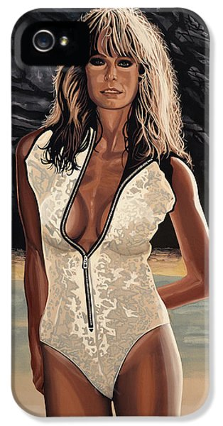 Extremity iPhone 5 Cases - Farrah Fawcett iPhone 5 Case by Paul Meijering