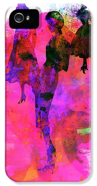Beautiful Dancer iPhone 5 Cases - Fashion Models 1 iPhone 5 Case by Naxart Studio