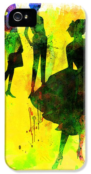 Beautiful Dancer iPhone 5 Cases - Fashion Models 2 iPhone 5 Case by Naxart Studio