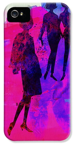 Beautiful Dancer iPhone 5 Cases - Fashion Models 4 iPhone 5 Case by Naxart Studio