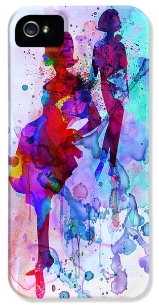 Beautiful Dancer iPhone 5 Cases - Fashion Models 5 iPhone 5 Case by Naxart Studio