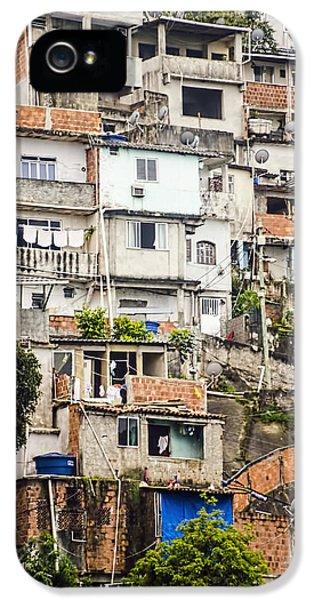 Shanty iPhone 5 Cases - Favela - Rio de Janeiro iPhone 5 Case by Jon Berghoff
